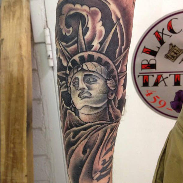 Statue Of Liberty Tattoo By Chrisnettletattoo On Deviantart