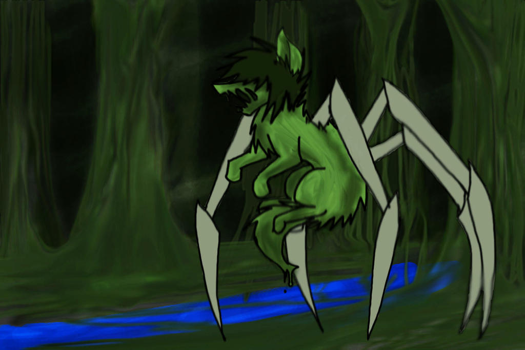 Swamp SpiderWolf auction by EtchsAdopts