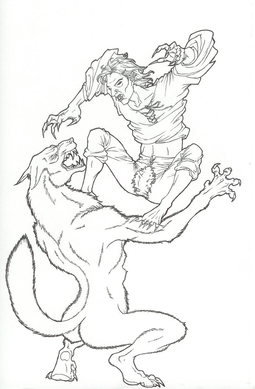 Vampire vs Werewolf by Pilar-Sama on DeviantArt