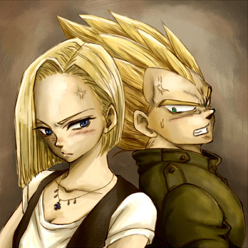 Android 18 And Tail Deviantart: Vegeta VS No.18 By Nuooon On DeviantArt
