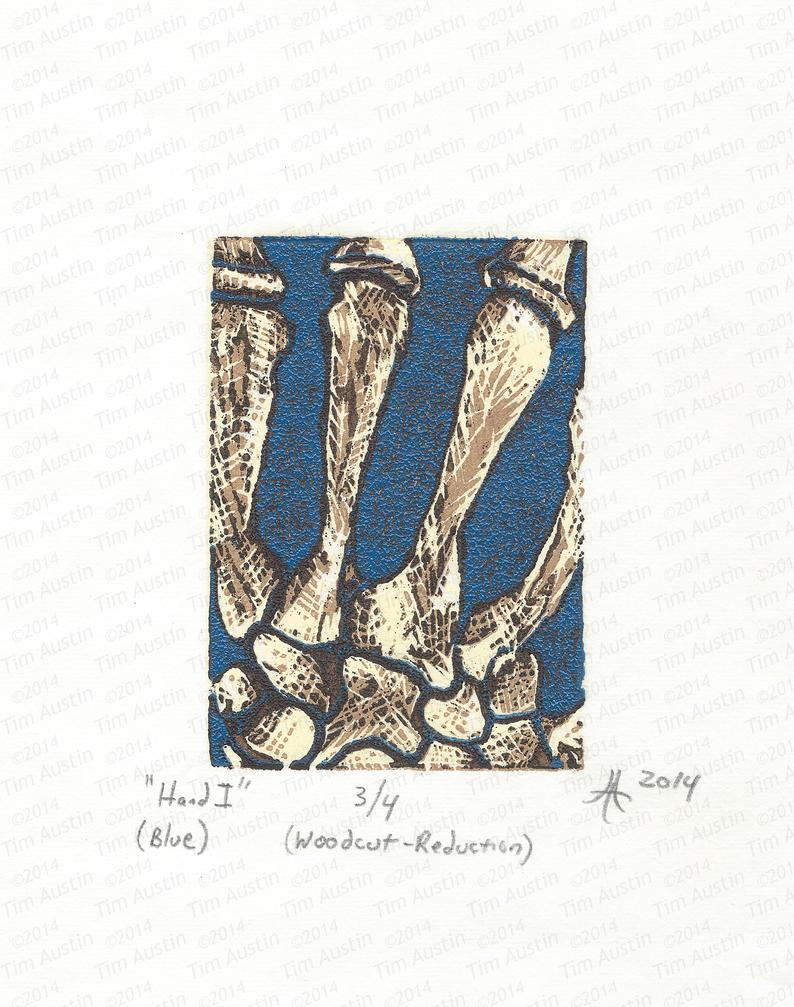 Hand I (blue) by tearherwrist