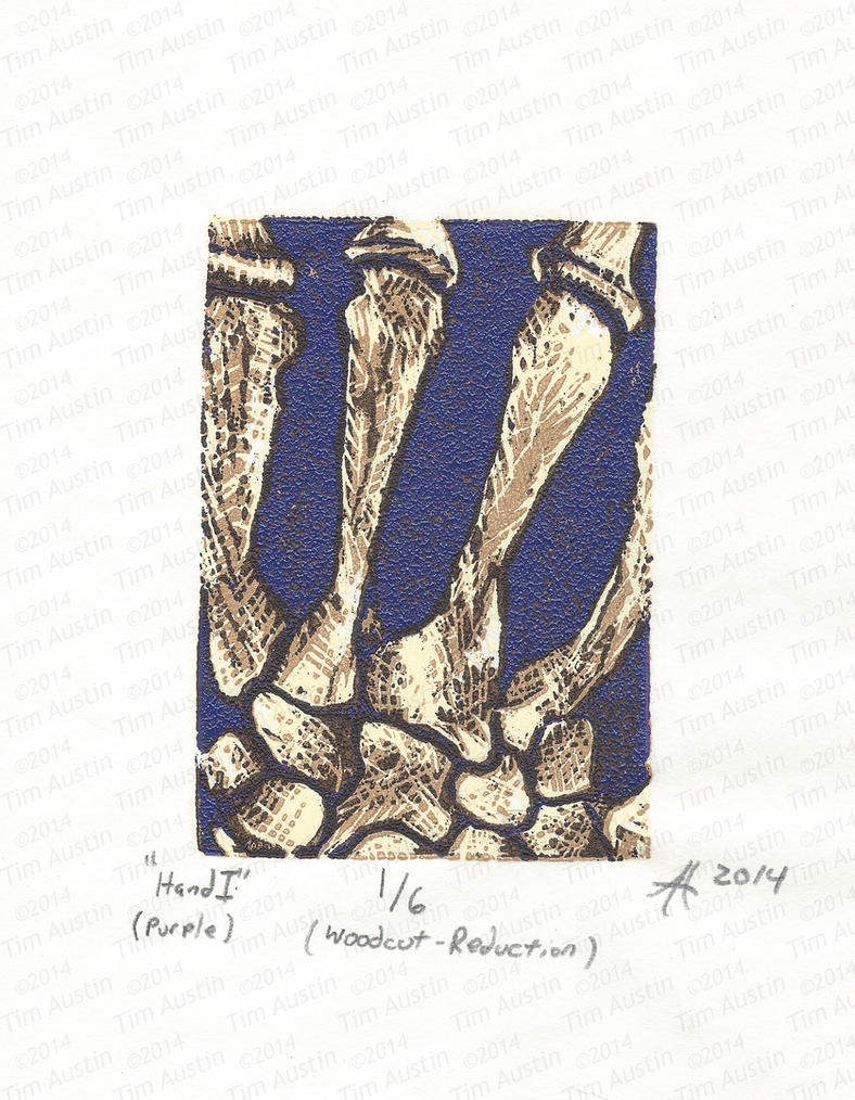 Hand I (purple) by tearherwrist