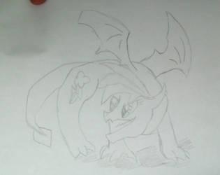 Sketches: Dragon Rainbow dash by Ask-Lovestar-MLP