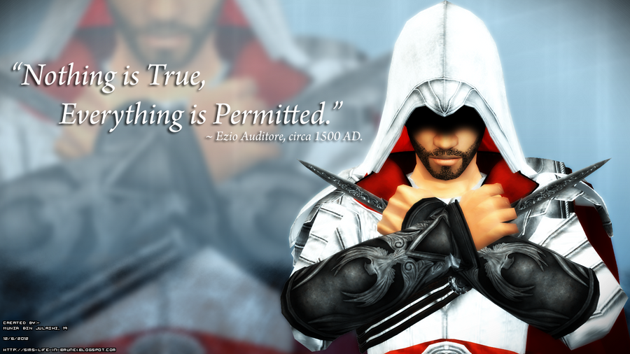 Ezio's Outfit Set For The Sims 2 Teaser By MunirBinJulaihi