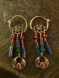 Classically-inspured Scarab Earrings