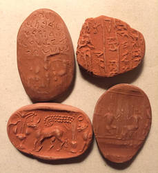 Little Ancient Tablet Props by bluemont-vampire