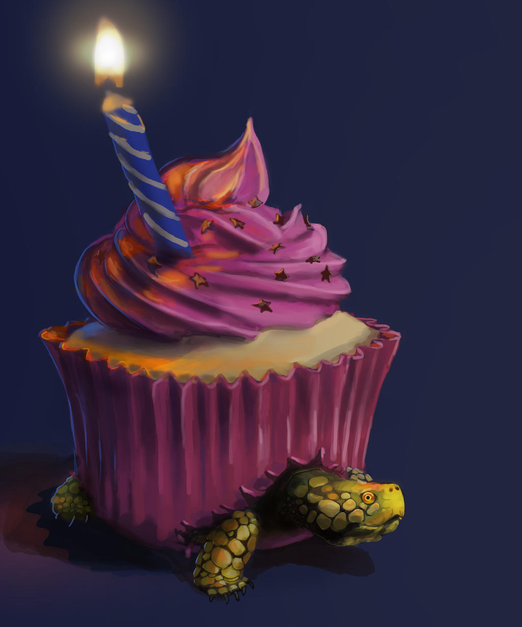 Cupcake Turtle says Hello Again :) by octomanz