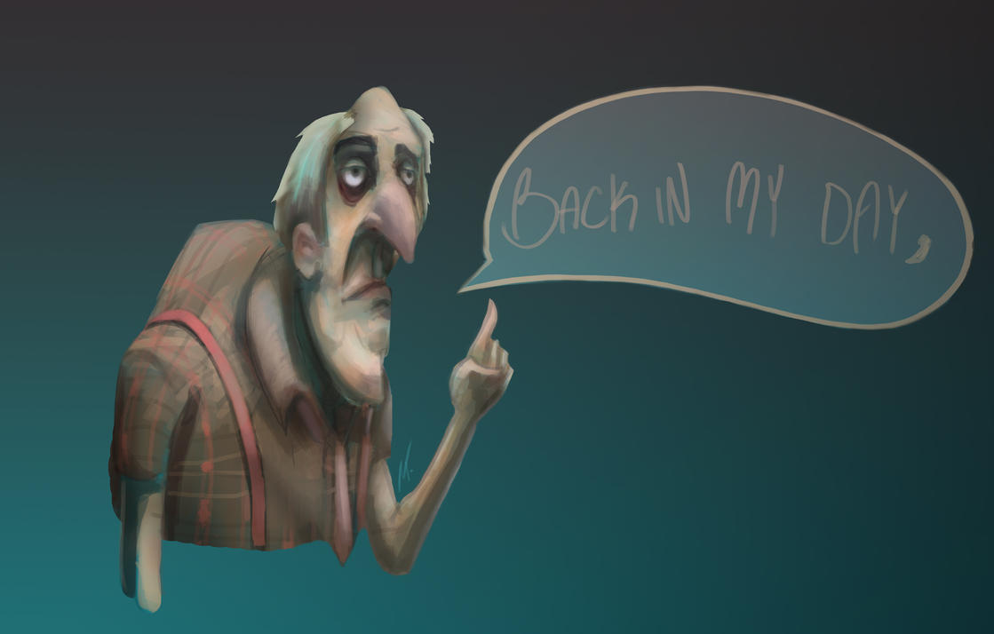 Old Man Doodle by octomanz
