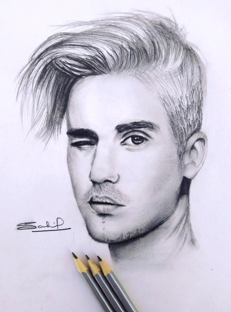 Pencil Sketch Of Justin Bieber. By Iamsahilartist On DeviantArt