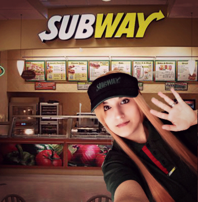 Asuna From Subway by Xalitha
