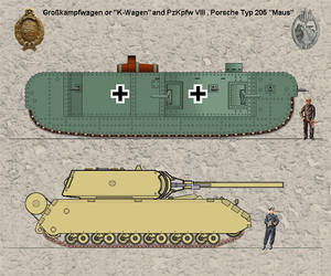 K-wagen and Maus by tacrn1