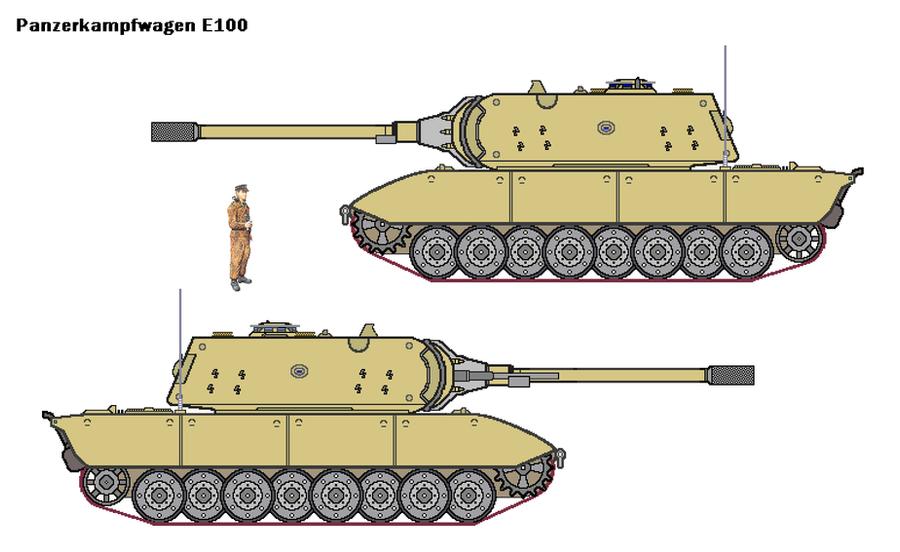 Американский солдат возле шасси танка е-100
