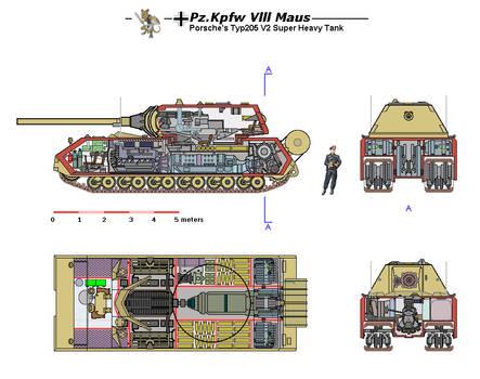Maus V2 cutaway color