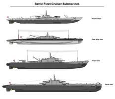 Battle Fleet Cruiser Submarines by tacrn1