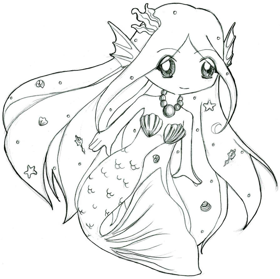 queen mermaid coloring pages - photo#38