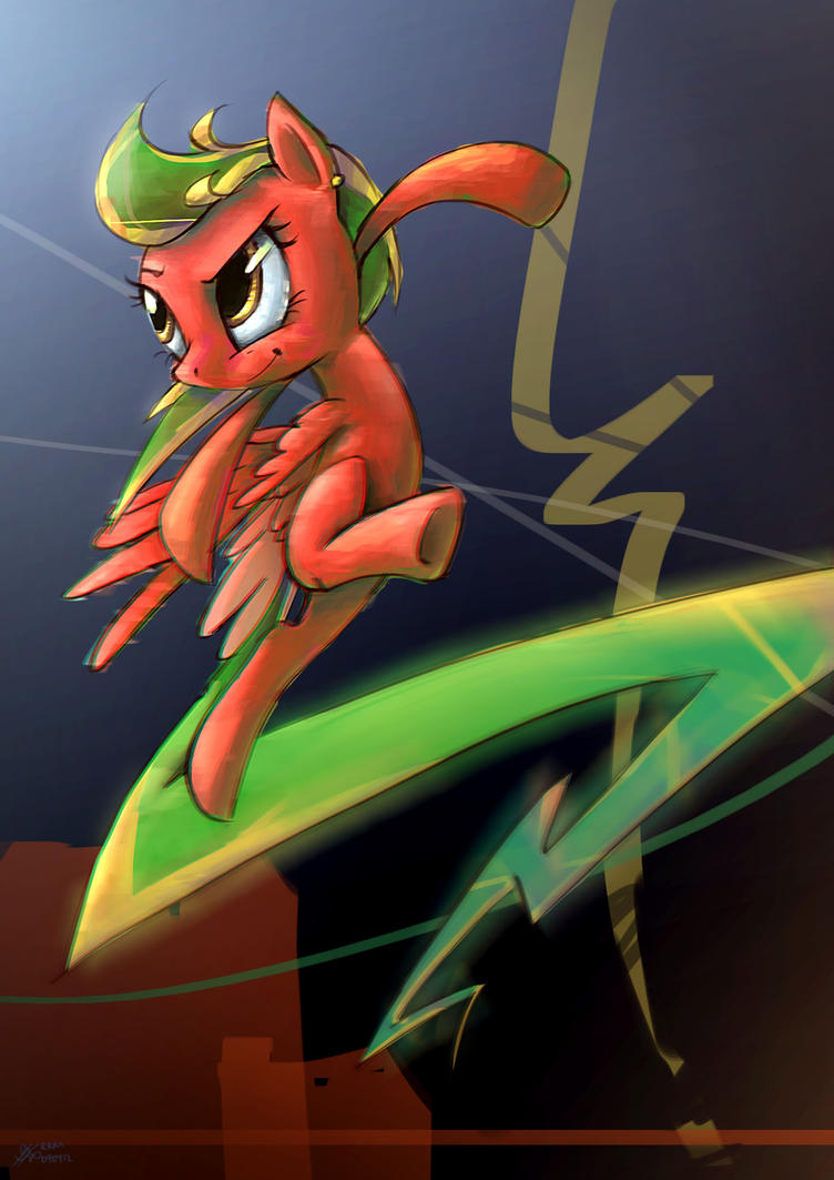 [request] Red Lightning Pony by Ruffu