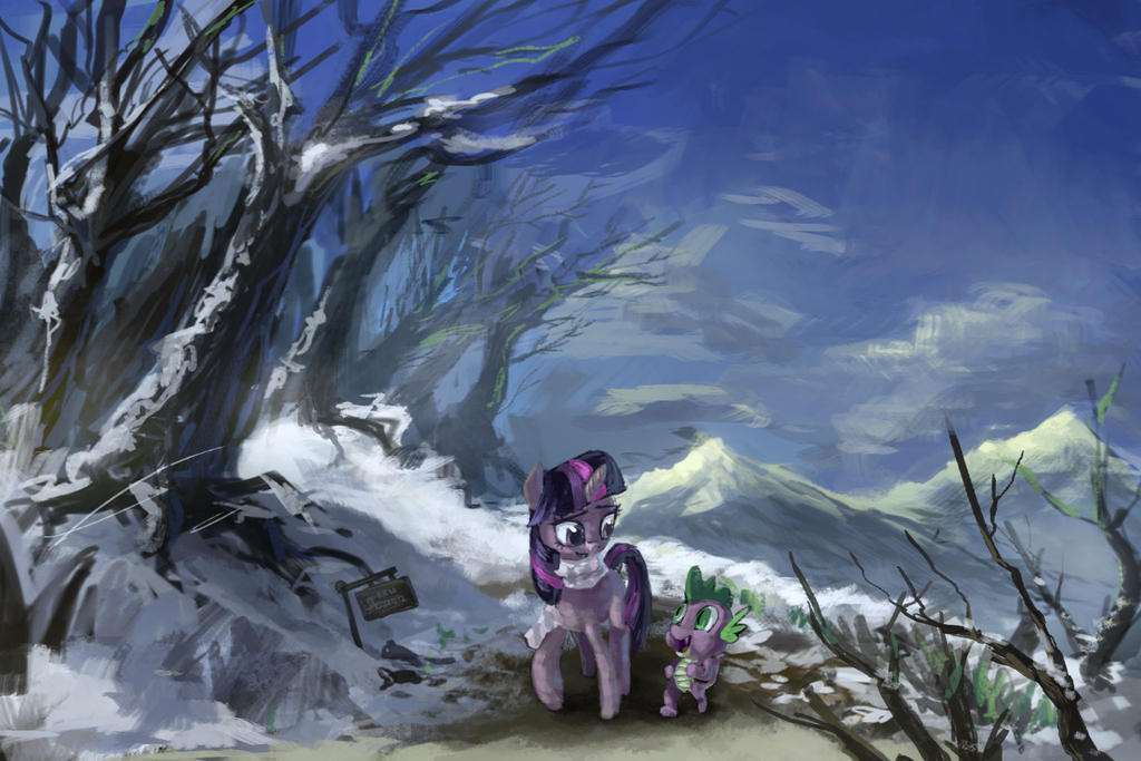 Snowy Twilight by Ruffu