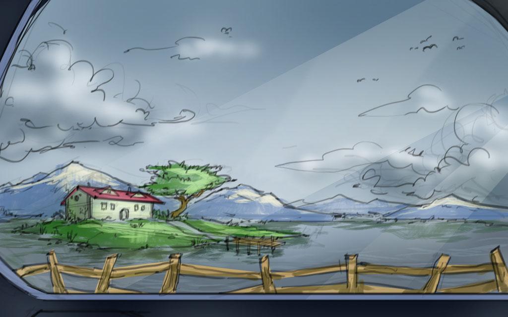 Car Window Sketch Wcolor By Ruffu On DeviantArt