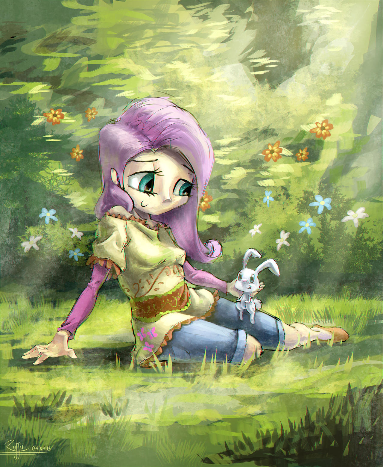 Angels in the Meadow by Ruffu