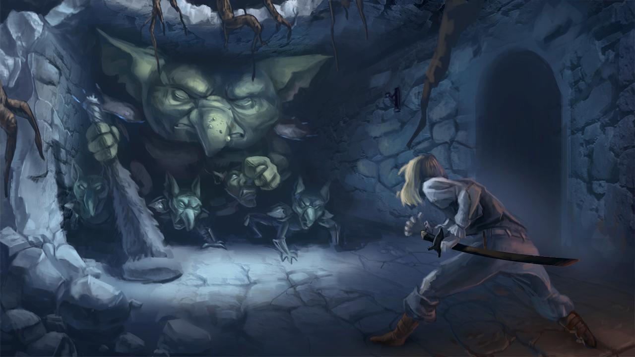 Dungeon Crawler Concept by Ruffu