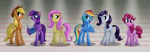 Mane 6 Height Comparison