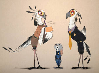 Secretary Bird by Ruffu