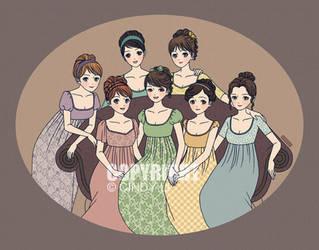 The Austen Girls by TsuyuCL