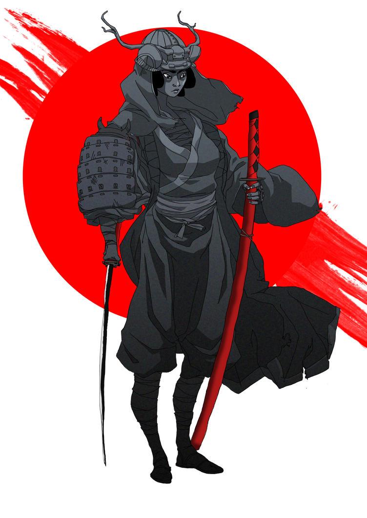 Female samurai by Waza-art