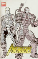 A1 Steve Rogers n War Machine by MarOmega