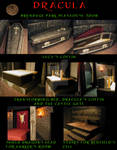Coffin and other DRACULA props