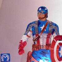 Captain America on mirror by MarOmega