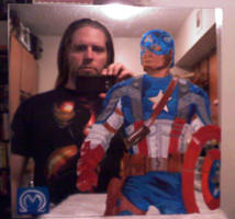 Cap Mirror with Artist by MarOmega