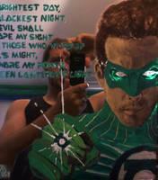Green Lantern mirror w Artist by MarOmega