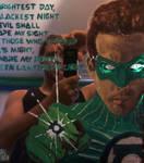Green Lantern mirror w Artist