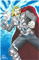 Thor markers and airbrush by MarOmega