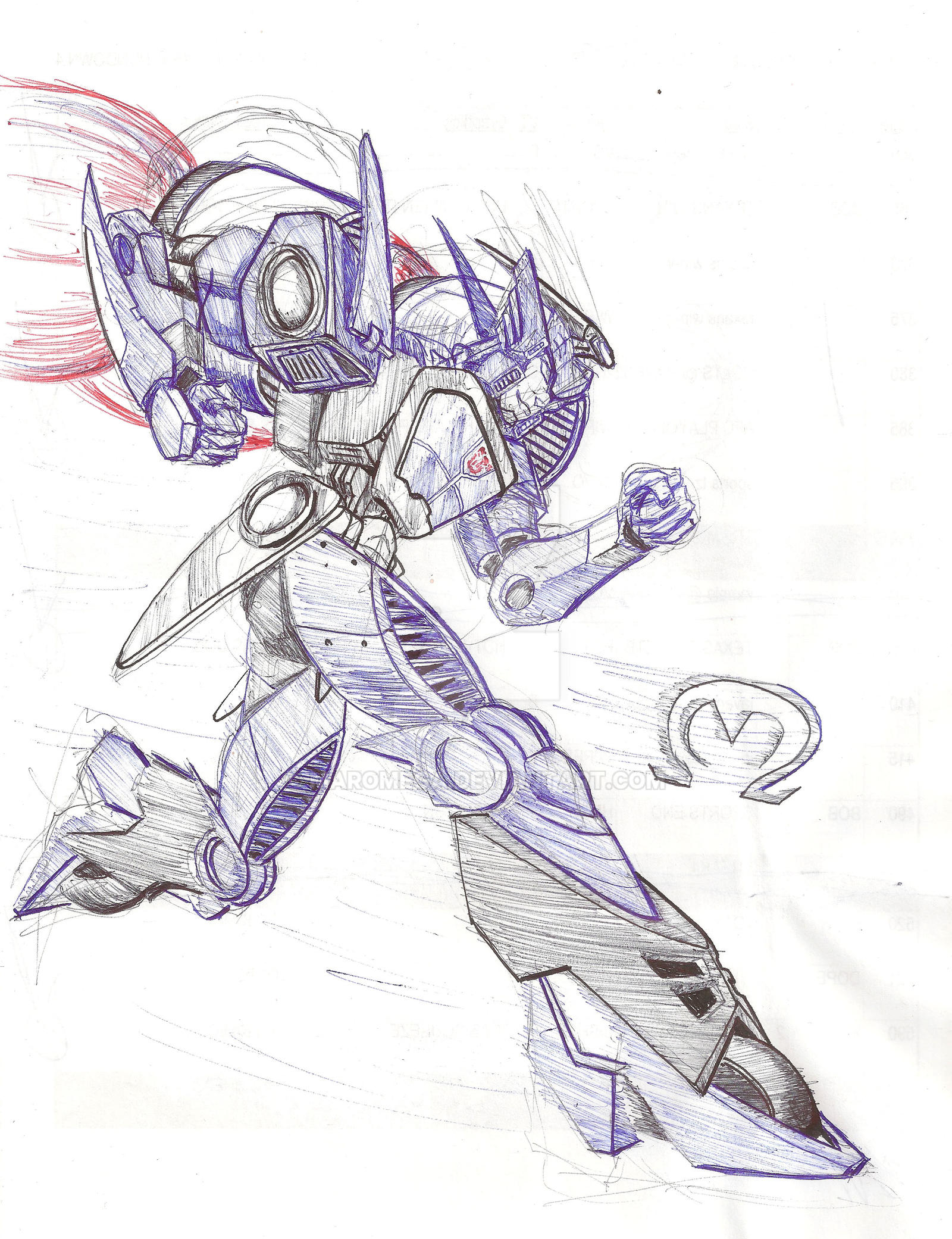 Blurr in Ballpoint Pen by MarOmega