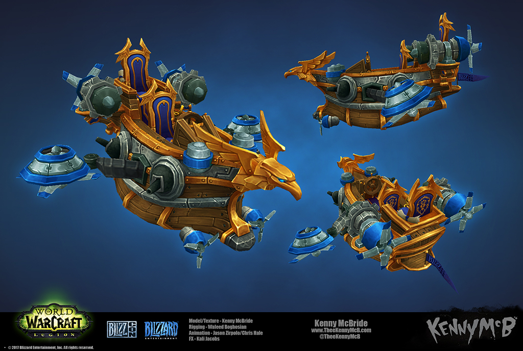 Alliance Stormwind Skychaser - BlizzCon 2017 by TheeKennyMcB