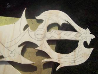 Way to dawn keyblade WIP 3 by UnitFourteen