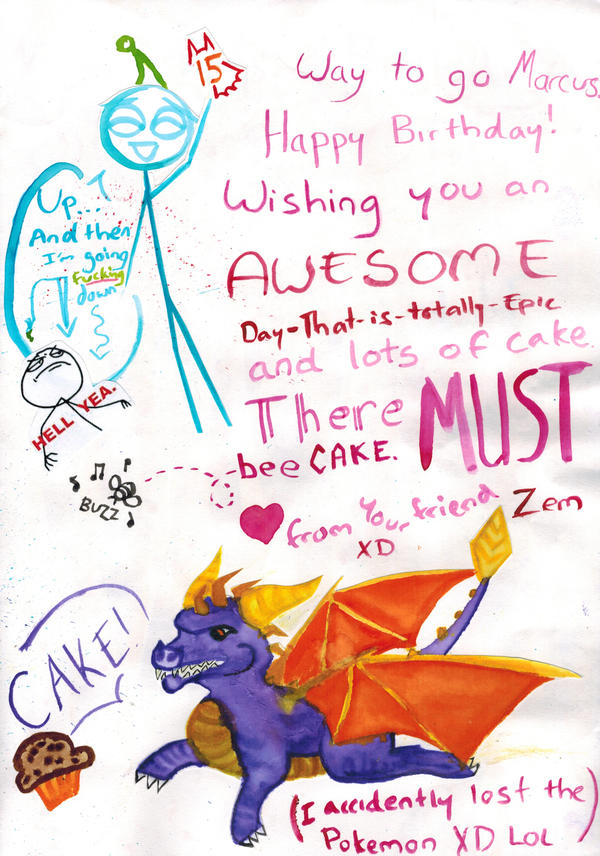 Best Birthday Card Ever Inside Page 1 by UltraX7 on DeviantArt – Best Birthday Greetings Ever