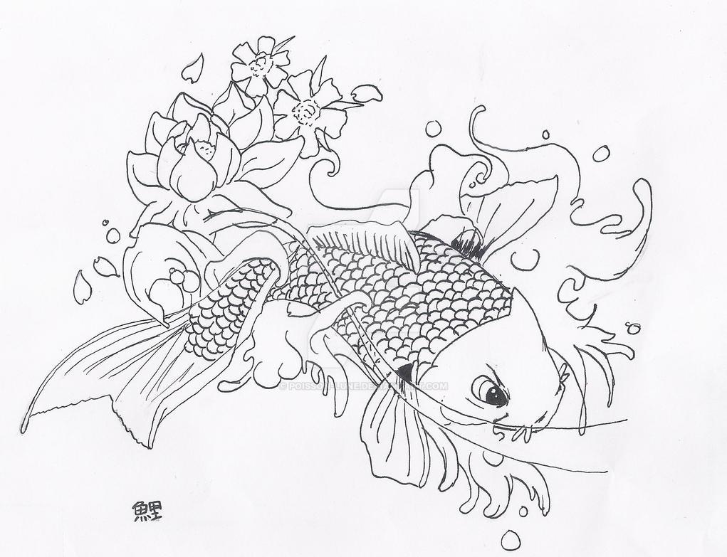 Carpe koi by poisson lune on deviantart for Carpes kois