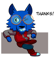Wolf Thanks by WolfArt1212