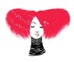 Raspberry Hair by ethlinne