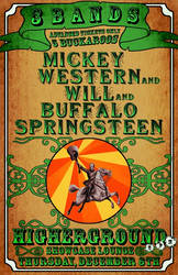 Gig Poster - Mickey Western