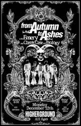 Gig Poster - Autumn To Ashes