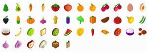 Organic-Isometric-Icons