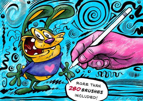 MEGAPACK: 290+ Brushes for Procreate
