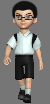 3D model Thai boy student's uniform by izakikoong on DeviantArt