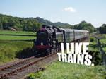 I like trains typography