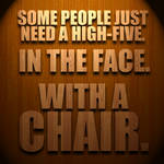 Chair-typography