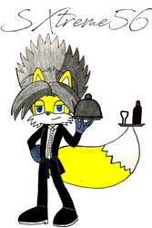 Phoenix The Fire Fox as a butler ((Collab Entry)) by Silverxtreme56